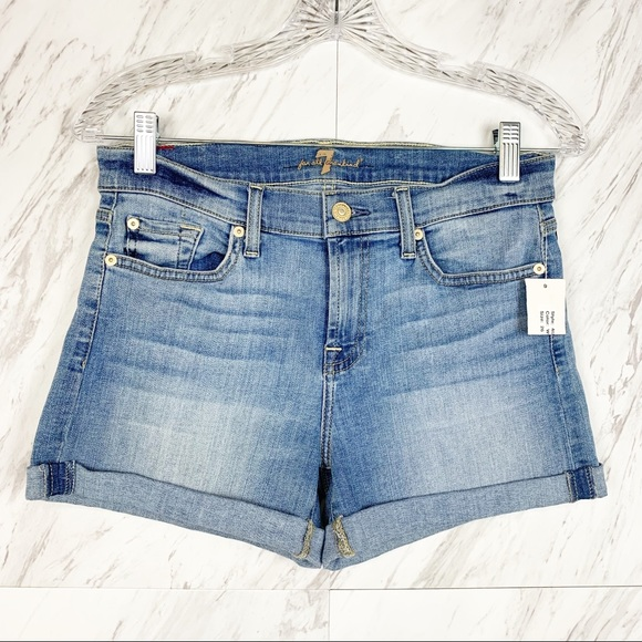 7 For All Mankind Pants - 7 For All Mankind Roll Up Shorts in Willow Ridge
